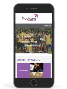 wizdumb-modicare website mobile mockup